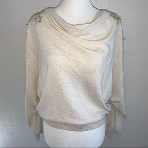 Sweatshirt with embroidered back